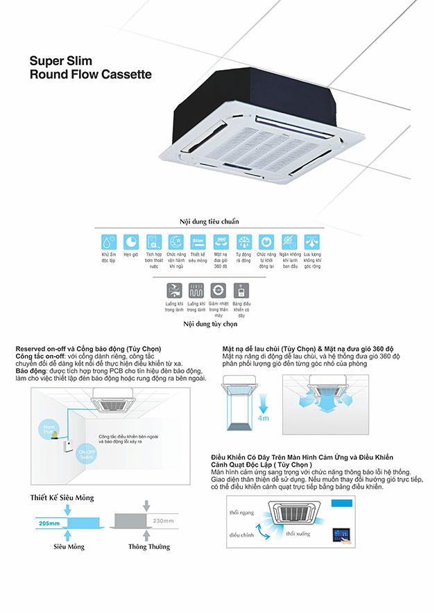 ưu đãi cho khách hàng mua Máy lạnh âm trần Midea – May lanh am tran Midea công suất 5,5HP