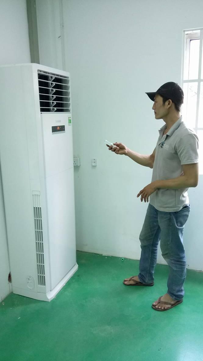 Lắp máy lạnh tủ đứng GREE 14