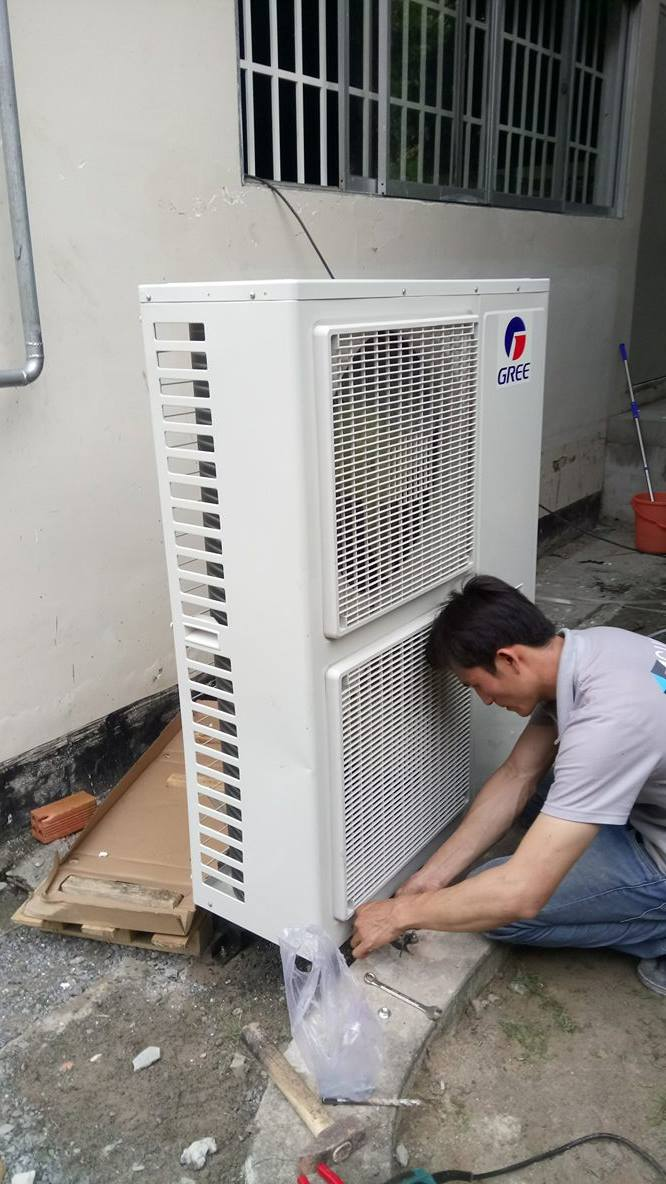 Lắp máy lạnh tủ đứng GREE 5