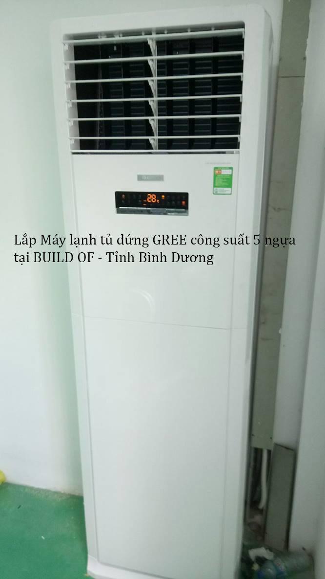 Lắp máy lạnh tủ đứng GREE 13
