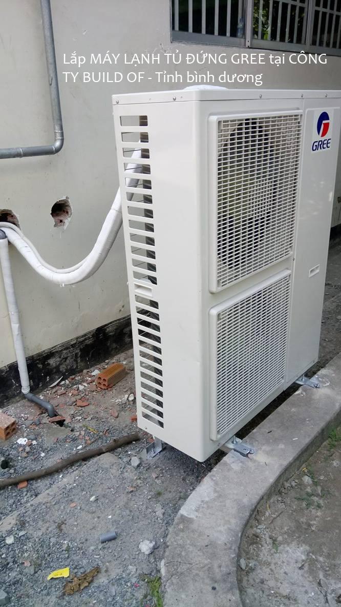 Lắp máy lạnh tủ đứng GREE 19