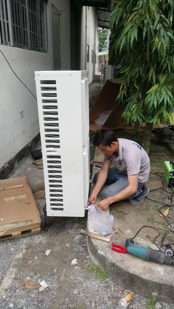 Lắp máy lạnh tủ đứng GREE 4