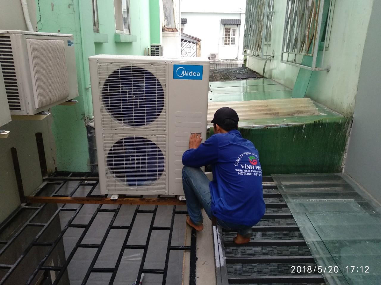 Lắp máy lạnh MIDEA tại Bộ tư pháp - Thủ Đức (6)