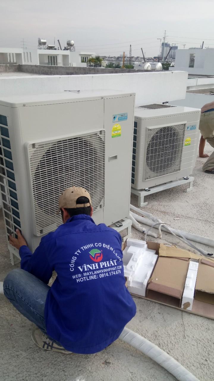 Lắp máy lạnh giấu trần nối ống gió DAIKIN tại Lucasta - quận 9 (28)