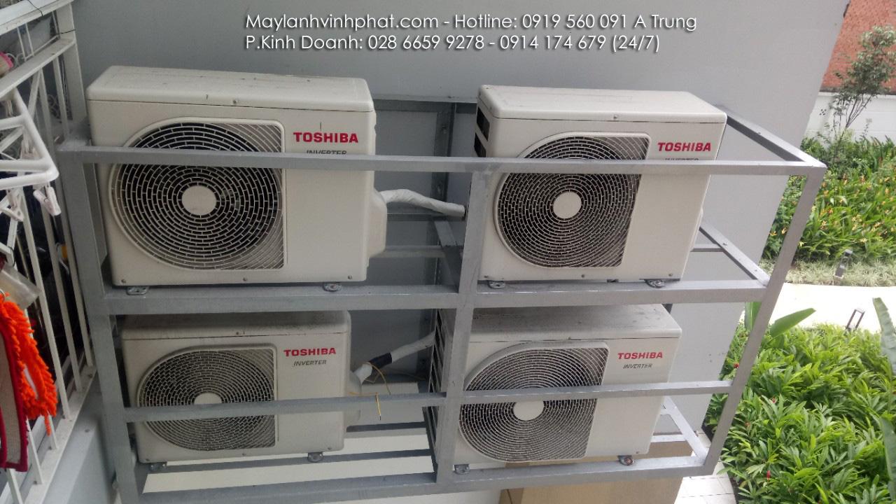 Lắp máy lạnh treo tường TOSHIBA - Tân Phú (3)